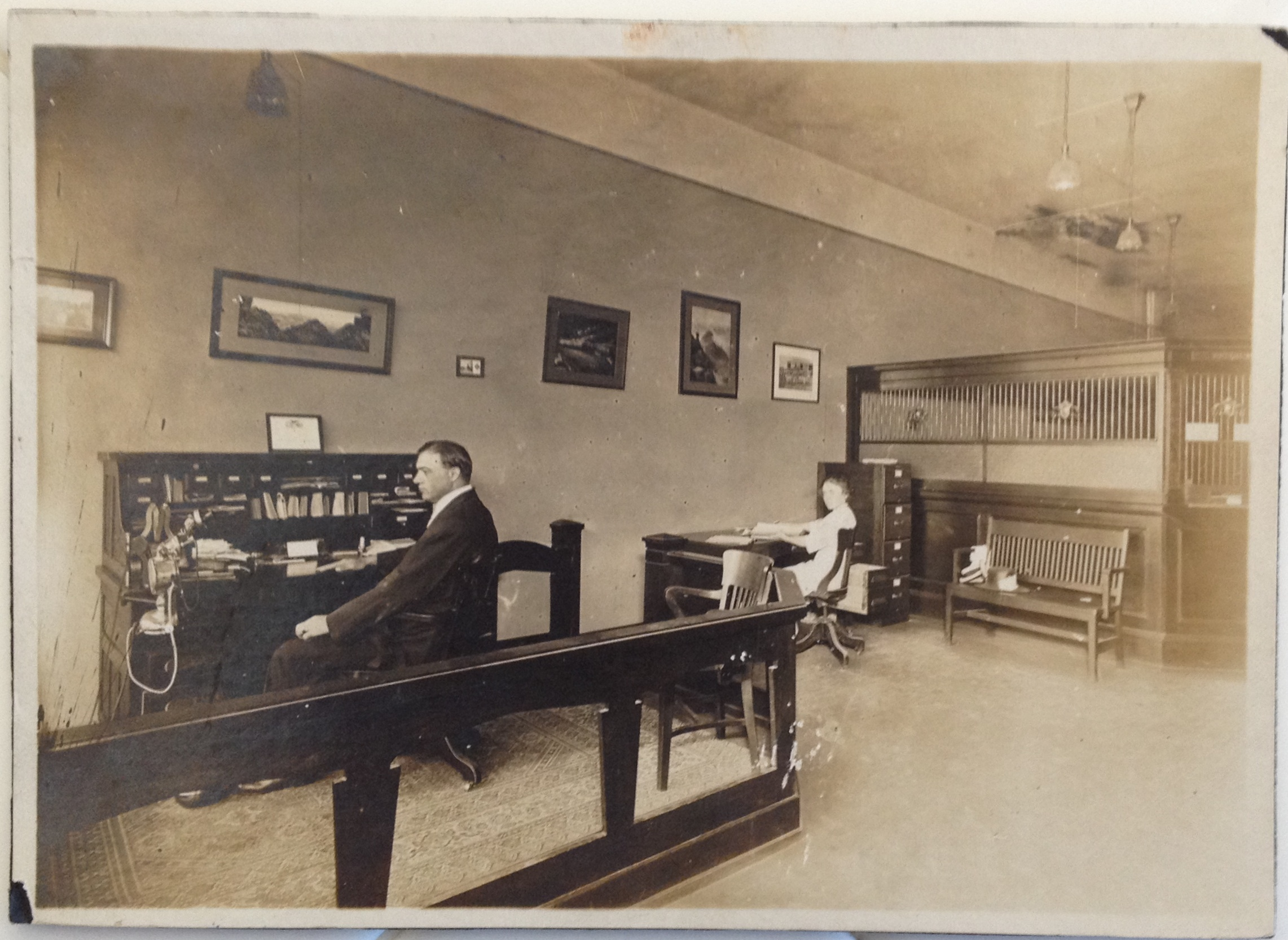 Wells Fargo & Co.'s Express Agency Office interior
