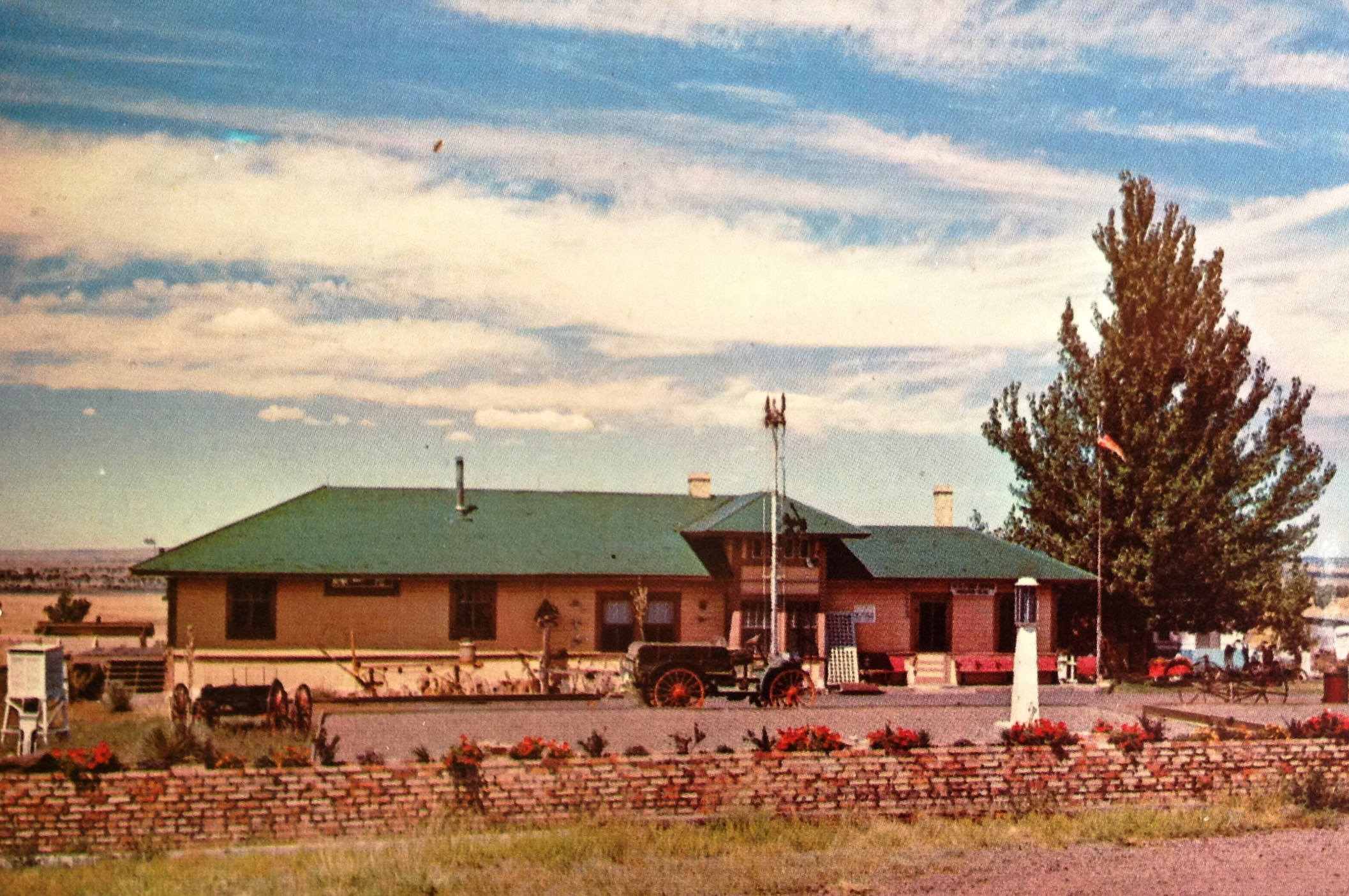 My House of Old Things, an EP&SW RR depot at Ancho, NM., c1965