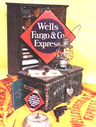 Back Cover of book Company Property of Wells Fargo & Co.'s Express 1852 - 1918
