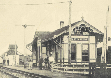 Photograph of Wabash RR Depot at Martinsburg Missouri c 1900